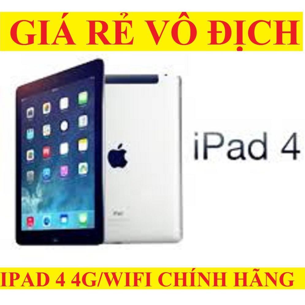 Máy tính bảng Ipad 4 4G/wifi Full chức năng, màn hình 9.7inch
