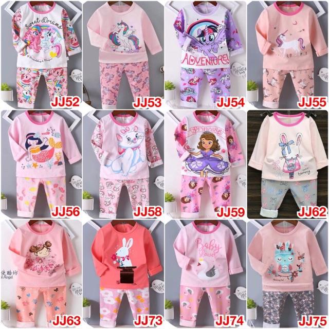 Bộ thu đông xuất Hàn cho bé 1-7 tuổi ( không chọn mẫu)combo 3 bộ