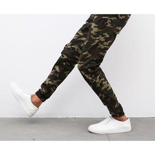 Quần jogger kaki lính khóa zip