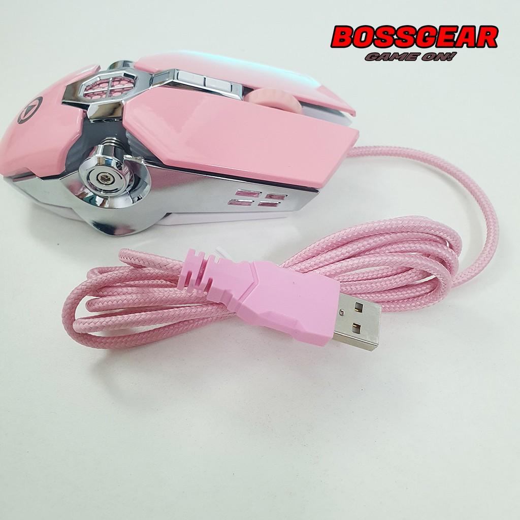 Chuột GAming Langtu G30S Màu Hồng ( Pink mouse , LED 7 màu)