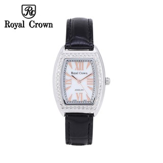 Đô ng hô nữ chính hãng Royal Crown 3635 dây da đen thumbnail