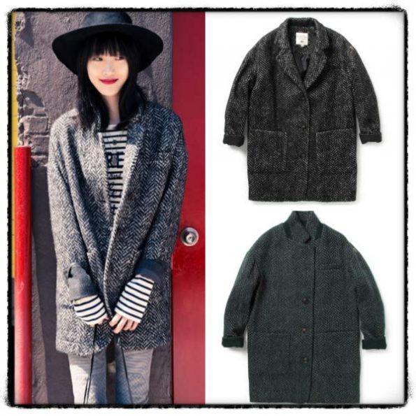 Áo Khoác Dạ Oversize Thursday Island Wool Coat dáng hàn quốc