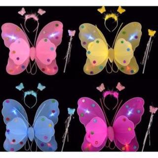 Sỉ 10 bộ cánh bướm 2 lớp có đèn ảnh thật