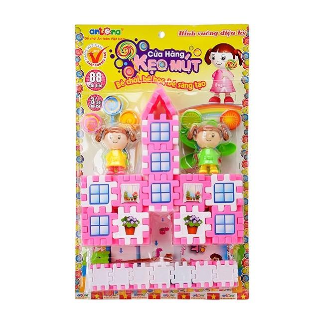 Bộ đồ chơi hình vuông diệu kỳ mẫu cửa hàng kẹo mút