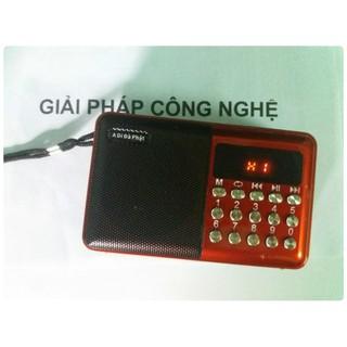 LOA NGHE NHẠC ĐA NĂNG KẾT HỢP FM, TÍCH HỢP THẺ NHỚ VÀ USB (Màu Đen Đỏ)