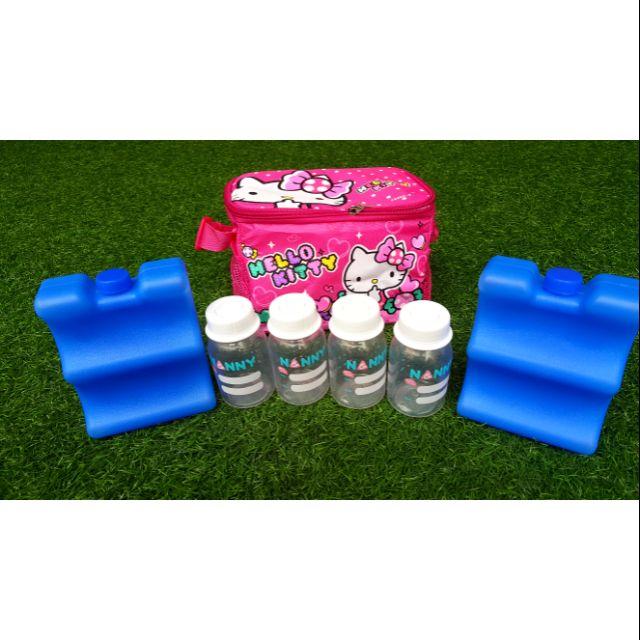 Combo túi bảo quản sữa + 2 đá medela + 4 bình nany
