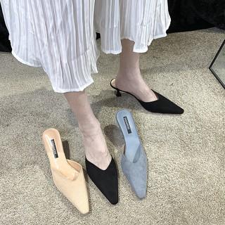 Giày Cao Gót Mũi Nhọn Phong Cách Hàn Quốc 2021 Cho Nữ