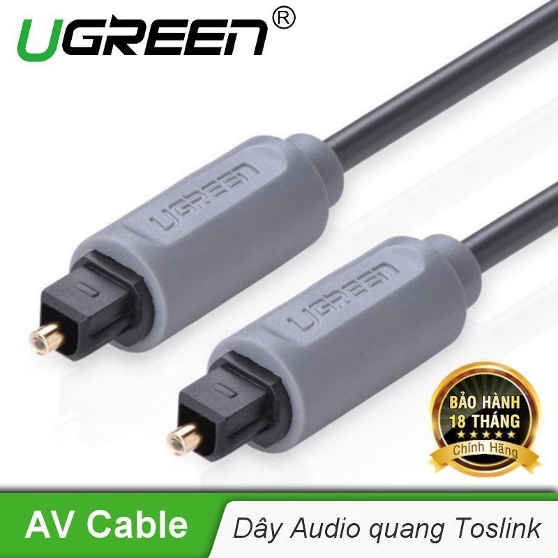 Dây audio quang (Toslink, Optical) UGREEN AV122 (đen) - Hãng phân phối chính thức.