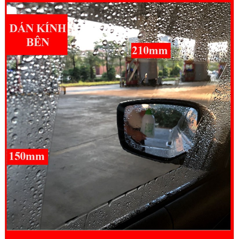 Bộ Miếng dán gương chống đọng nước gương chiếu hậu, kính cửa xe ô tô, xe hơi