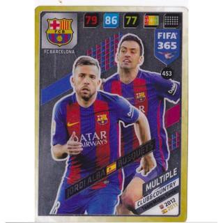Thẻ Cầu Thủ/Thẻ Bóng Đá Panini FIFA 365 Multiple – Jordi Alba/Busquest – Barcelona