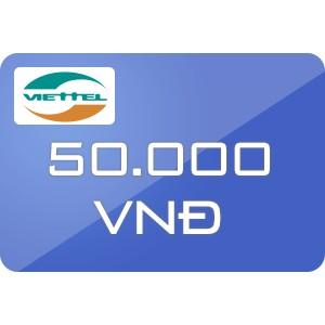 Nạp trực tiếp Vietel 50k