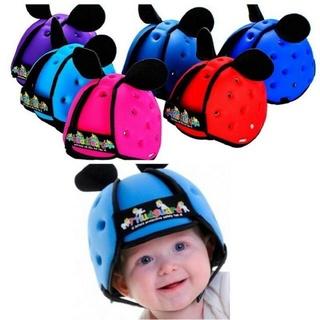 Mũ bảo hiểm bảo vệ đầu cho bé tập đi. Mũ bảo hiểm trẻ em 2 tai dễ thương. Hàng chất lượng cao thumbnail