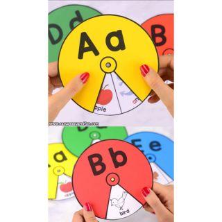 Bộ vòng quay chữ từ a – z