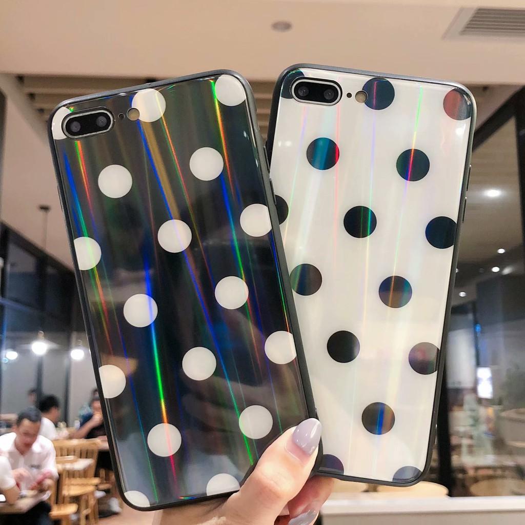 Ốp điện thoại họa tiết tiết chấm bi cho Oppo F1s F5 F7 F9 A3S A83 R9SP