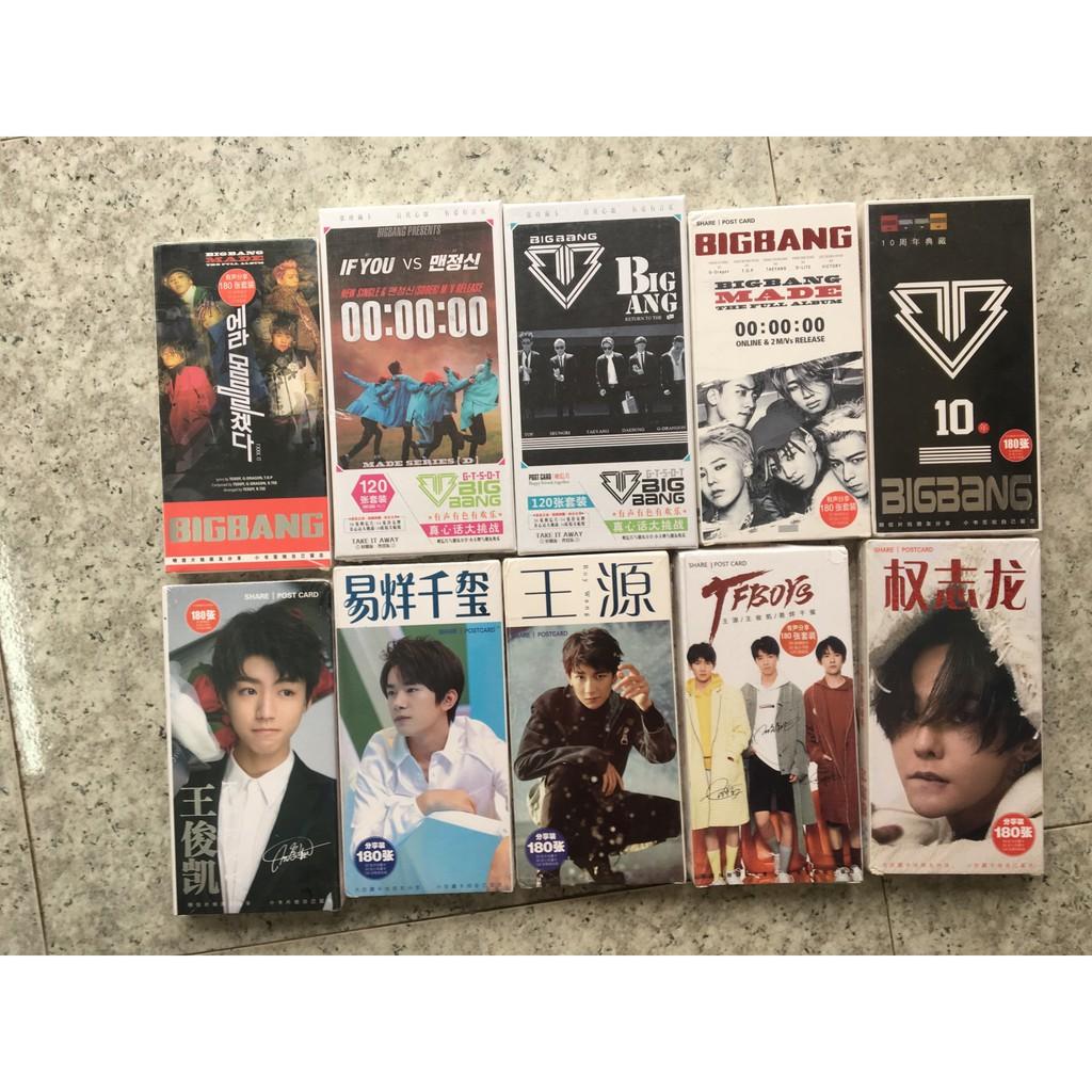 Hộp card / poscard GD, BIGBANG TFBOYS INFINITE