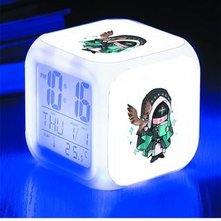 Đồng hồ báo thức để bàn in hình Eli Clark Identity V anime chibi LED đổi màu