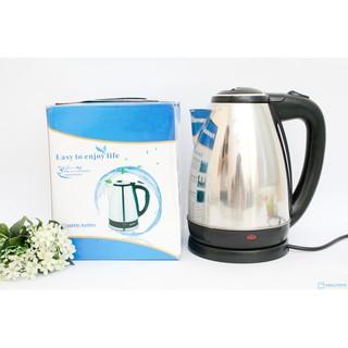 Bình đun nước siêu tốc inox, ấm đun nước, bình siêu tốc 1.8 lit