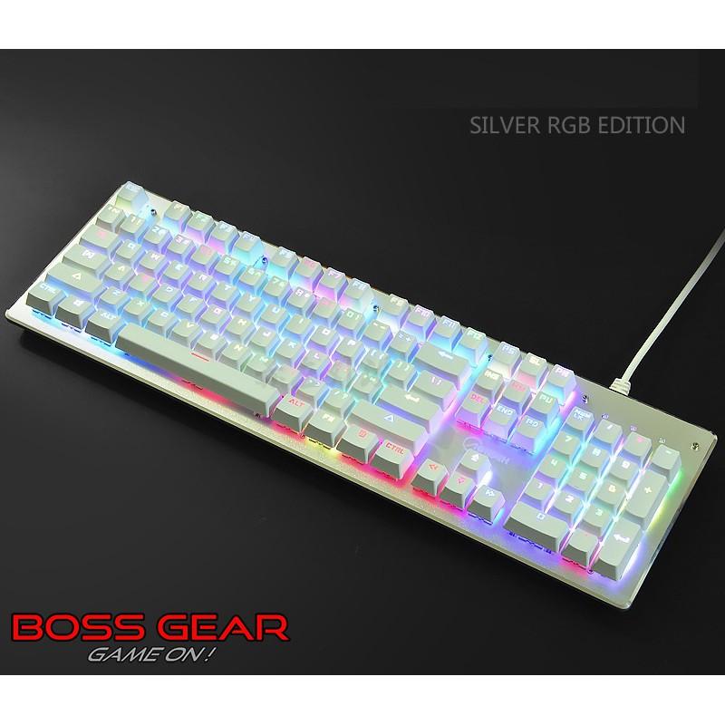 Bàn Phím Cơ Aoyeah K100 Màu trắng bạc LED RGB ( có phần mềm tùy chỉnh ) Giá chỉ 699.000₫