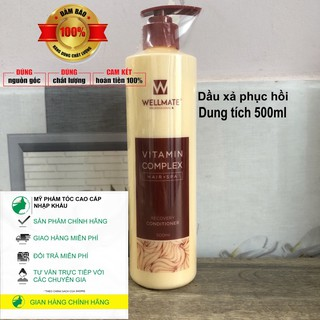 cam_kết_chính_hãng Dầu xả phục hồi tóc hư tổn Wellmate 500ml New 2021 thumbnail