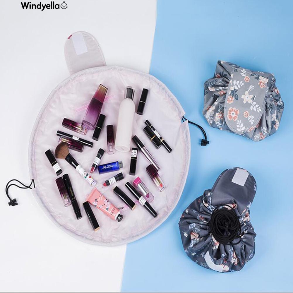 >>Portable Floral Flamingo Fox Makeup Storage Drawstring Bag