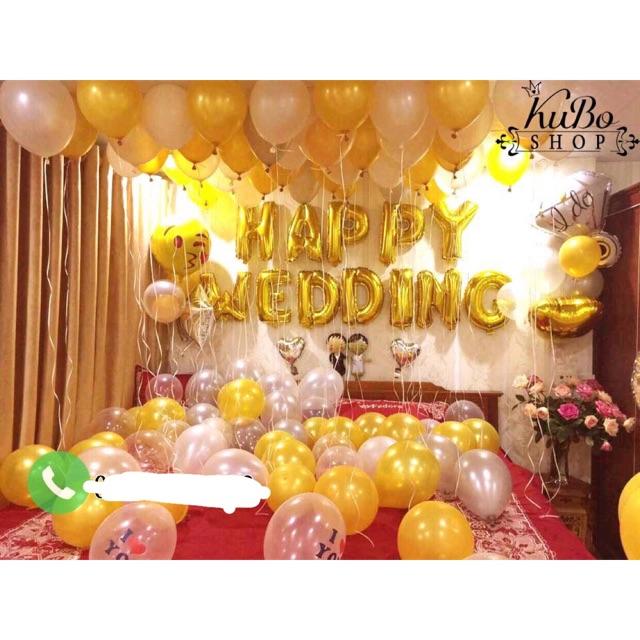 [Giá Tốt Online TRỢ GIÁ] sét bóng ngày cưới tông màu vàng