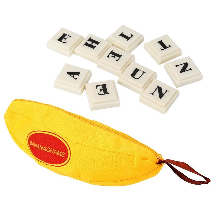 Đồ chơi ghép chữ tiếng anh chất liệu nhựa PP kèm túi hình trái chuối đáng yêu