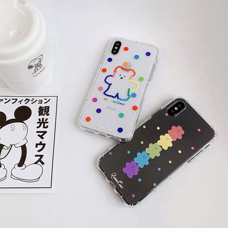 Ốp điện thoại in hình gấu Gummy cho iPhone11/11Pro 11pro Max X XR XS XS MAX 7 8 plus