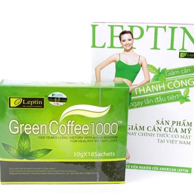 Cafe giảm cân Green Coffee 1000 Leptin - 2784253 , 520969315 , 322_520969315 , 400000 , Cafe-giam-can-Green-Coffee-1000-Leptin-322_520969315 , shopee.vn , Cafe giảm cân Green Coffee 1000 Leptin