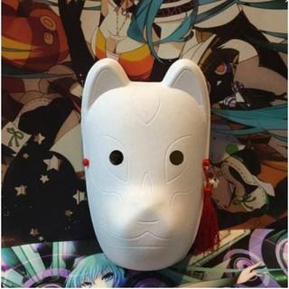 KITSUNE TRẮNG TRƠN – giấy bồi (Mặt nạ cáo,mask fox) -cosplay