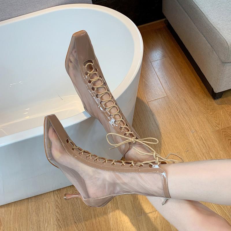 Giày Bốt Cao Gót Thời Trang Hàn Quốc 2020