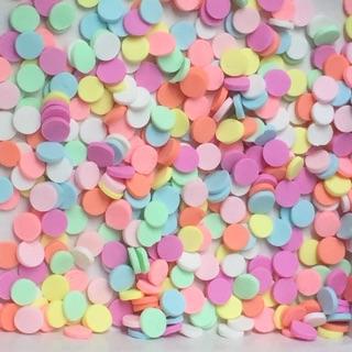 Cốm các loại 10g : cốm tròn , cốm tim , cốm cầu vồng , cốm micke , cốm bông tuyết …
