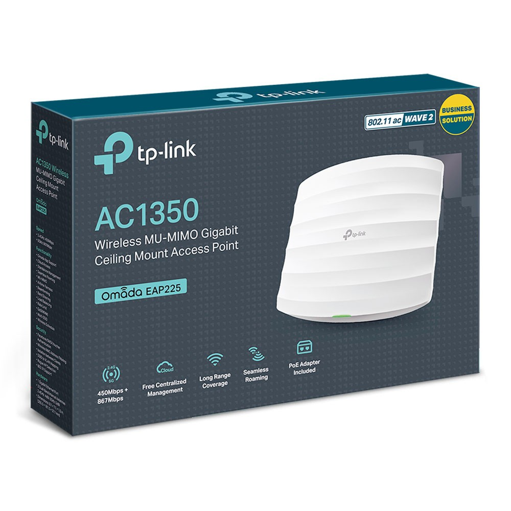 Access Point gắn trần Wi-Fi MU-MIMO Gigabit TP-Link AC1350 EAP225 - Chính hãng - 22103231 , 2683007517 , 322_2683007517 , 2050000 , Access-Point-gan-tran-Wi-Fi-MU-MIMO-Gigabit-TP-Link-AC1350-EAP225-Chinh-hang-322_2683007517 , shopee.vn , Access Point gắn trần Wi-Fi MU-MIMO Gigabit TP-Link AC1350 EAP225 - Chính hãng