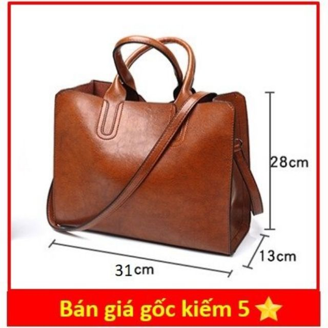 [TẶNG VÍ 48K] Túi TOTE TO da mềm đựng vừa A4 size 31 cm