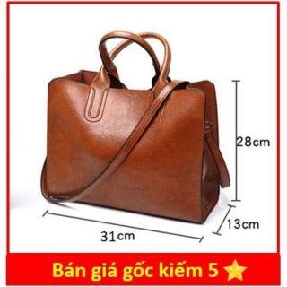 Túi TOTE TO da mềm đựng vừa A4 size 31 cm