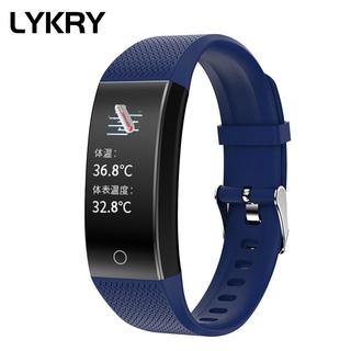 Lykry Đồng hồ đeo tay thông minh QW18T chức năng đo nhịp tim / nhiệt độ / theo dõi giấc ngủ cho Huawei Xiaomi IPhone