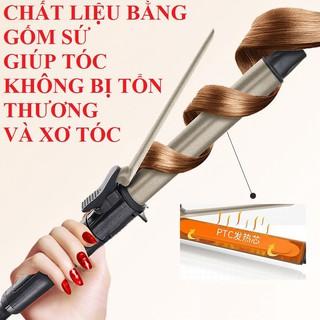 Máy uốn tóc máy uốn tóc tự động máy làm xoăn tóc tặng bộ phụ kiện kẹp tóc bảo hành 12 tháng chính hãng-Sezi 25mm thumbnail