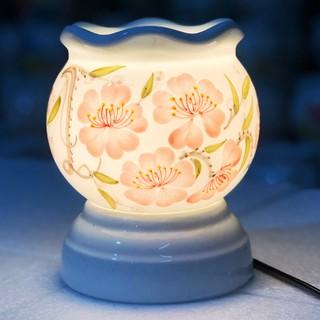 Đèn xông tinh dầu Bát Tràng size to cao 15cm 7