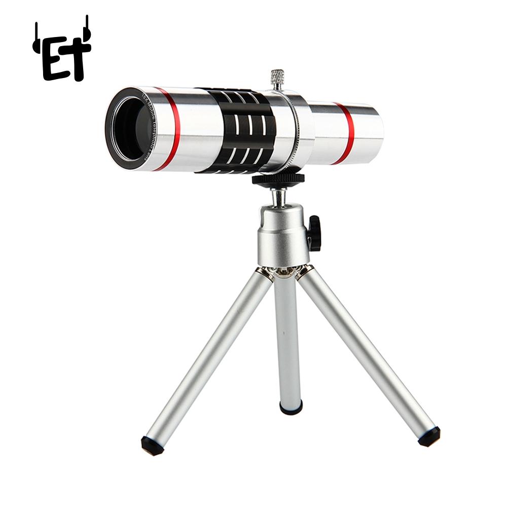 HD Telephoto Lens với Tripod Clip Kit Điện thoại phổ Camera Len cho điện thoại