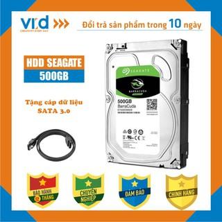 Ổ cứng HDD 500GB Seagate Barracuda - Tặng cáp SATA 3.0 Hàng tháo máy đồng bộ mới 98% - Bảo hành 12T