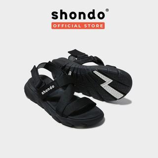 Giày Sandals SHONDO F6 Sport Màu Đen Shat - F6S301