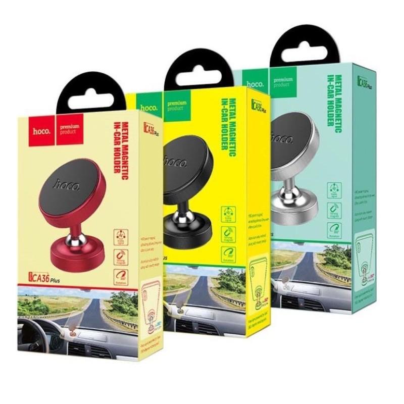 ✔GIÁ SỈ ✔Giá đỡ điện thoại Hoco CA36 Plus trên xe hơi, sử dụng tương thích thiết bị dán từ tính-Hít Nam Châm-CHÍNH HÃNG