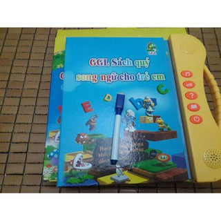 Combo Sách Nói Song Ngữ Cho Bé Tặng Kèm Set 3 Tập Tô Bay Mực và bút
