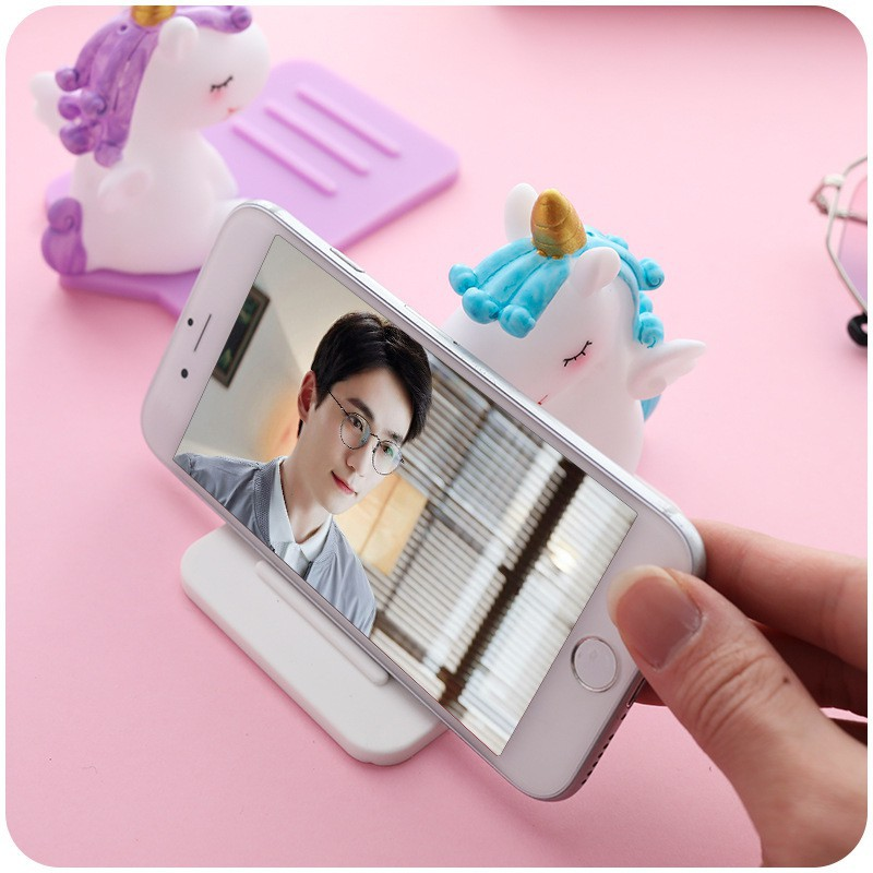 Giá đỡ điện thoại / ipad hình ngựa kì lân dễ thương ( Freeship Toàn Quốc )