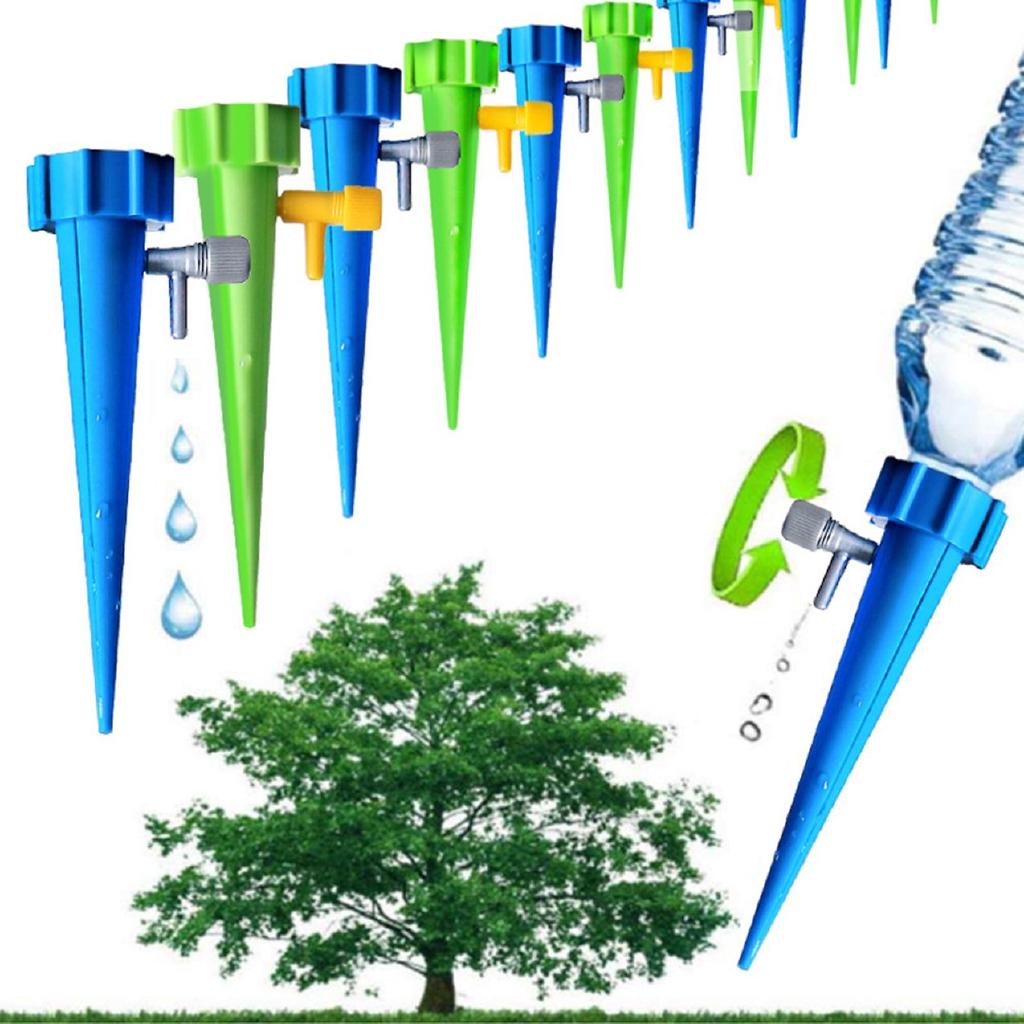 Nắp tưới cây tự động hình nón lắp vào miệng chai nước