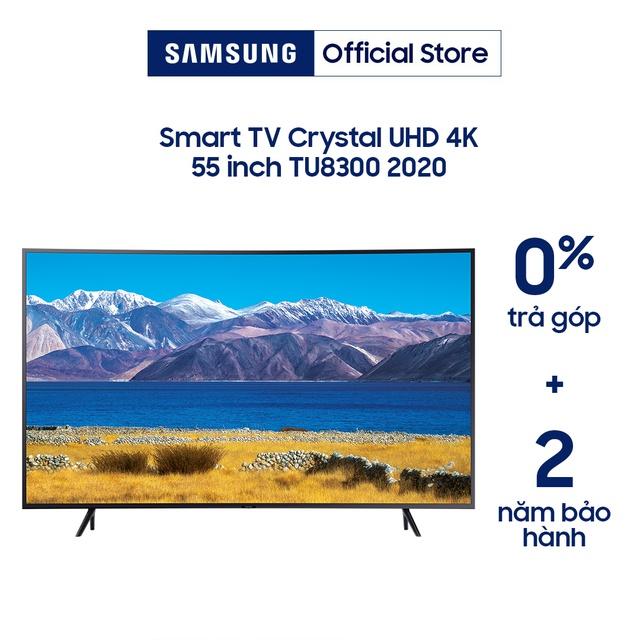 [Nhập ELSAM30 giảm 5% đơn 5TR] Smart Tivi Samsung Màn Hình Cong Crystal UHD 4K 55 inch UA55TU8300KXXV (Voice Sreach)
