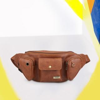 Túi đeo chéo trước ngực nam phối ngăn cá tính IDIGO MB2-3360-00 thumbnail