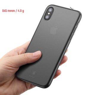Ốp lưng Lụa Siêu mỏng, Chống bám vân tay Baseus Wing Case cho iPhone XS Max Iphone XR