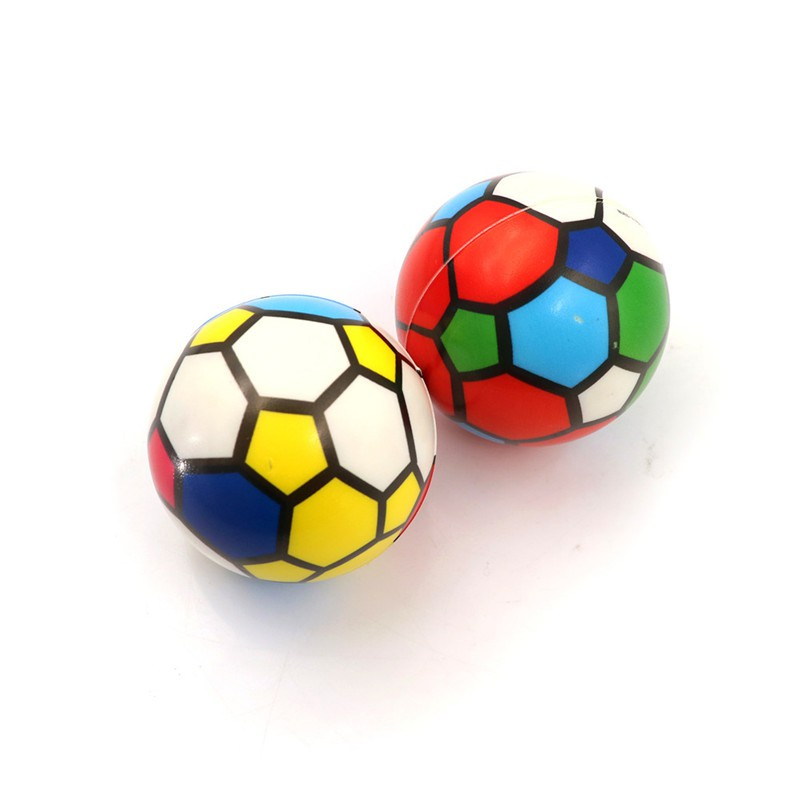 1PC Stress Relief Vent Ball Colorful Mini Football Squeeze Foam Ball Kids Toys