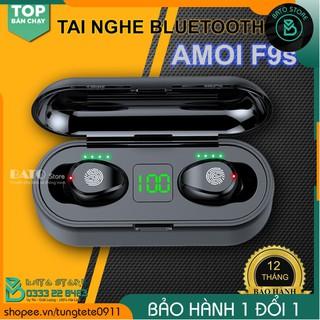 [BẢN CAO CẤP] Tai nghe bluetooth không dây AMOI F9S nút cảm ứng   Màn hình Led   Chất âm tuyệt vời, kiểu dáng hiện đại