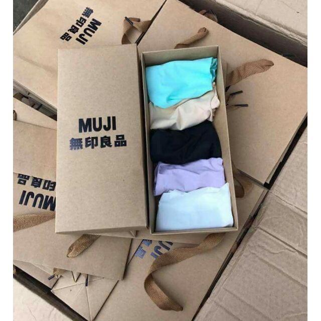 Combo 5 hộp( 25 chiếc) quần lót nữ Muji nhật không đường may siêu đẹp. - 3315483 , 545002411 , 322_545002411 , 440000 , Combo-5-hop-25-chiec-quan-lot-nu-Muji-nhat-khong-duong-may-sieu-dep.-322_545002411 , shopee.vn , Combo 5 hộp( 25 chiếc) quần lót nữ Muji nhật không đường may siêu đẹp.